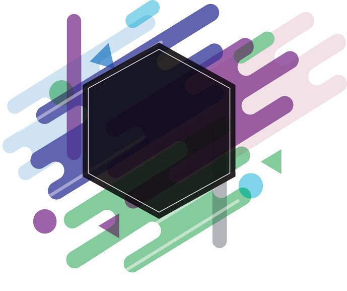 Hexagon Art Box Vector EPS