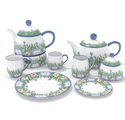 Art Tea Set 3D Models
