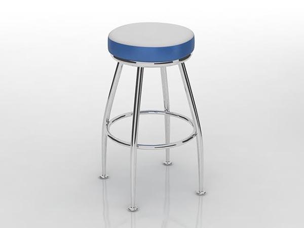 Bar stool blue 3D Model