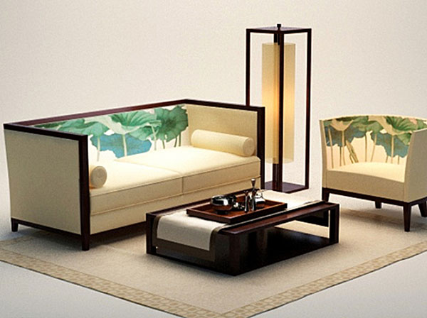 Chinese-Style Sofa 3D Models