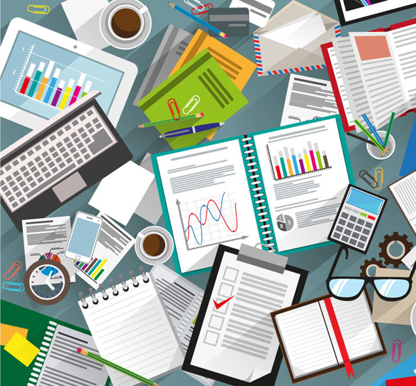 Desk Vector EPS