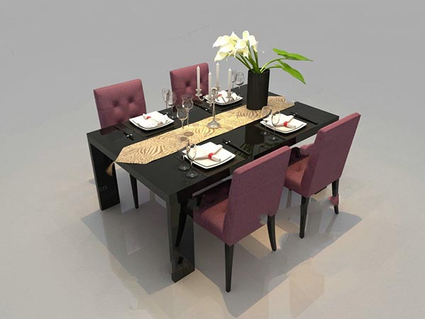 Dining table furniture 3D Models