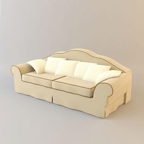 Double Sofa 3D Models 01