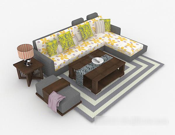Multi-People Sofa 3D Models