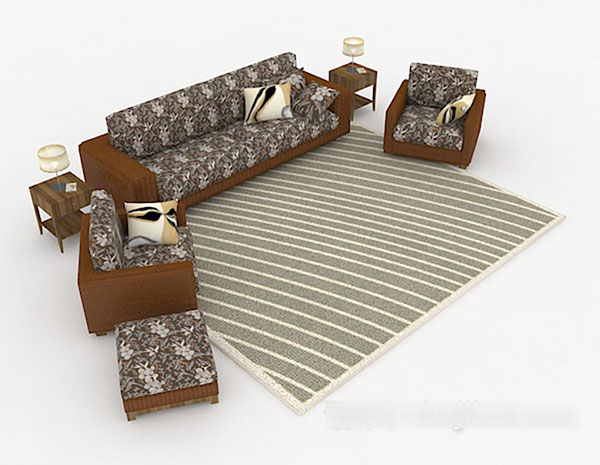 Pattern Sofa 3D Models