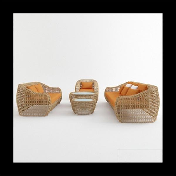 Rattan Furniture 3D Model