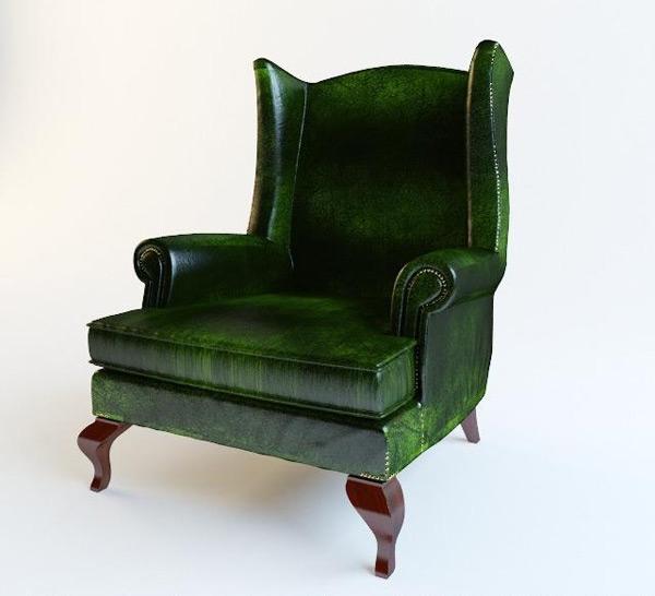 Single Sofa Seat 3D Model 01