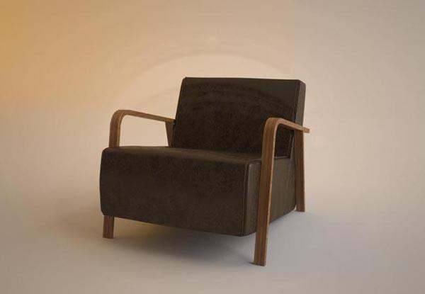 Single Sofa Seats 1 3D Model