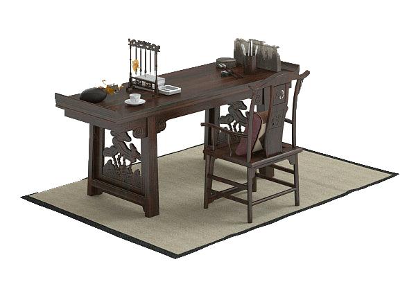 Study Furniture 3D Models 01