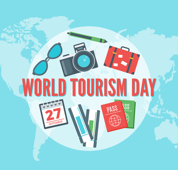 World Tourism day element Vector AI