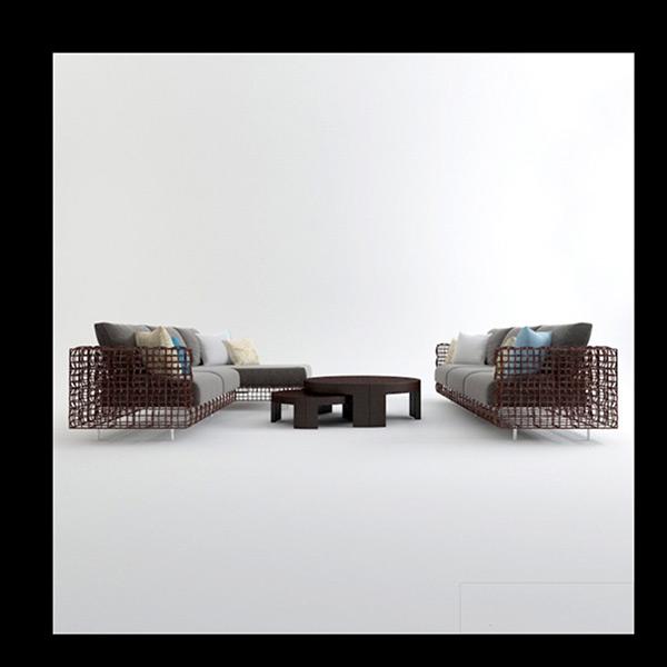 Woven Furniture 3D Models 01