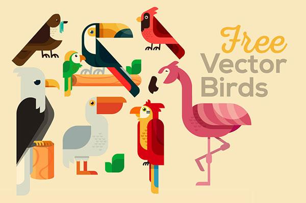 Cartoon bird illustration Vector AI