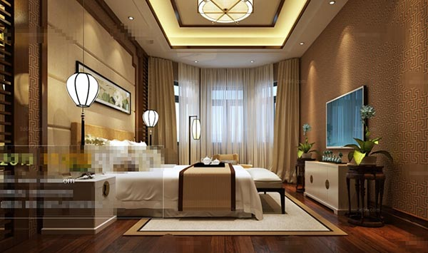 Classical Style Bedroom 3D Model