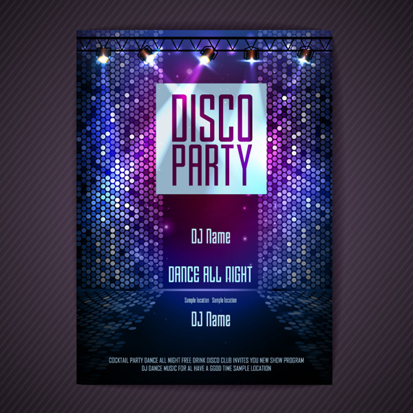 Disco posters Vector EPS
