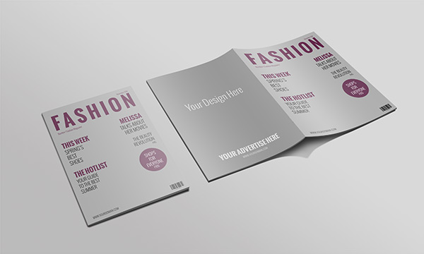Fashion book mockup PSD
