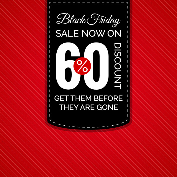 Friday discount posters vector EPS