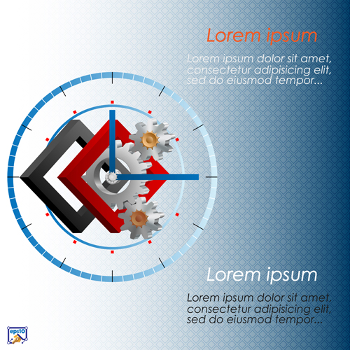 Gear and abstract elements Vector EPS 03