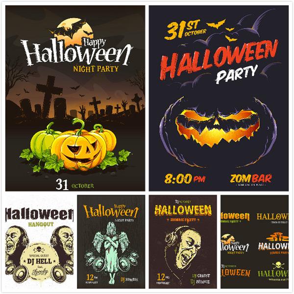 Halloween design ideas vector EPS AI