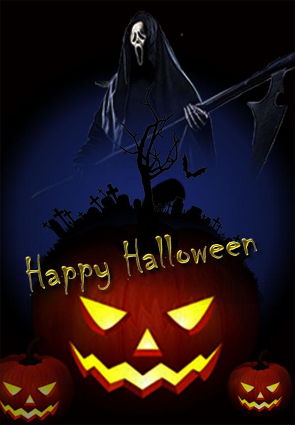 Halloween poster PSD