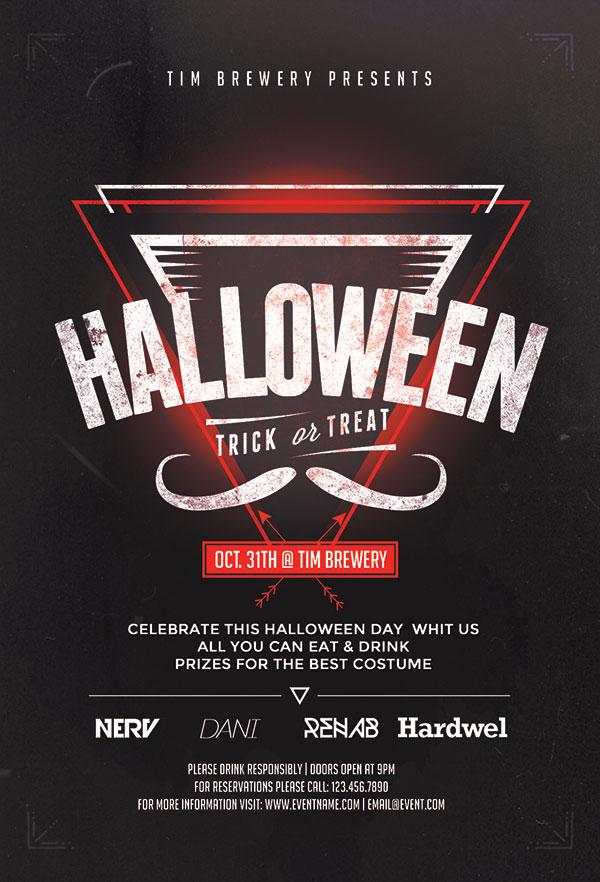 Halloween theme PSD poster
