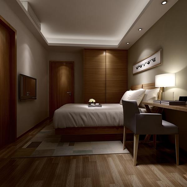 Hotel Bedroom 3D Model