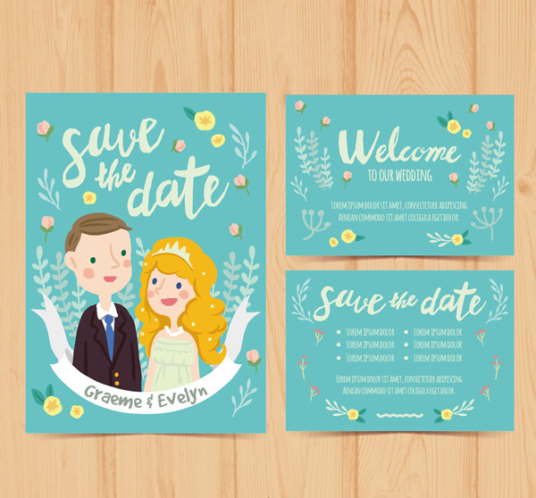 New Wedding Invitation Cards Vector Ai For Free Download