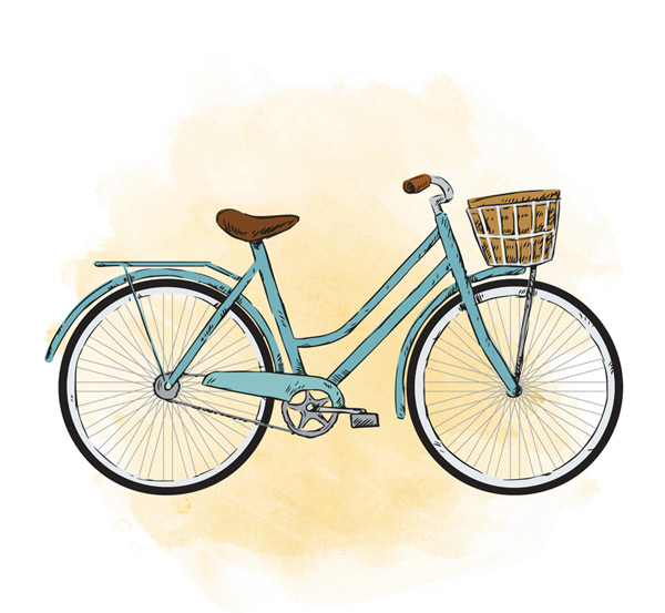 Painted blue bike Vector AI