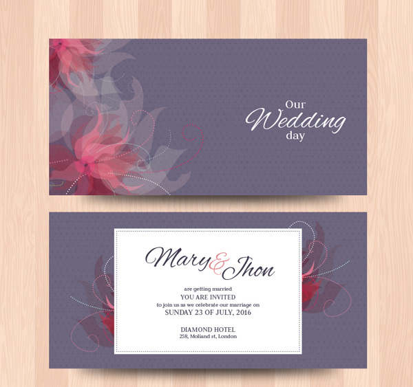 Pattern wedding cards Vector AI 01