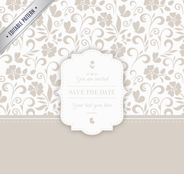 Simple but elegant pattern invitations vector AI