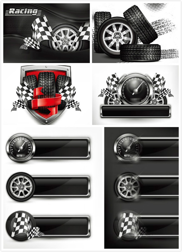 Tire wheel printing Vector EPS