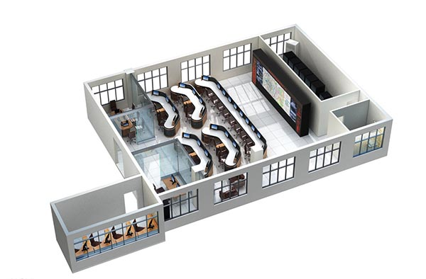 Traffic Control Center 3D Model