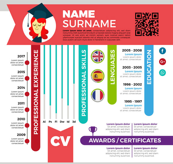 Business Resume Template Vector Ai For Free Download | Free ...