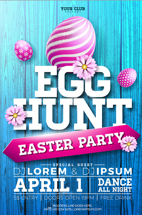 Easter promotional poster Vector EPS