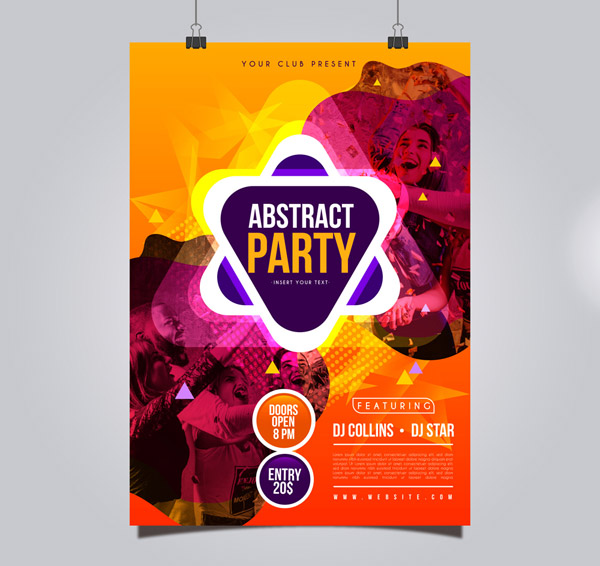 Fashion Party Poster Vector AI