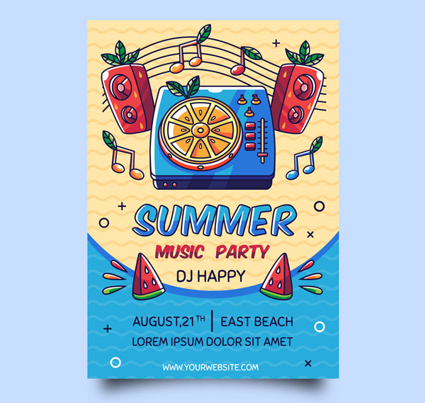 Summer Music Festival Party Vector AI