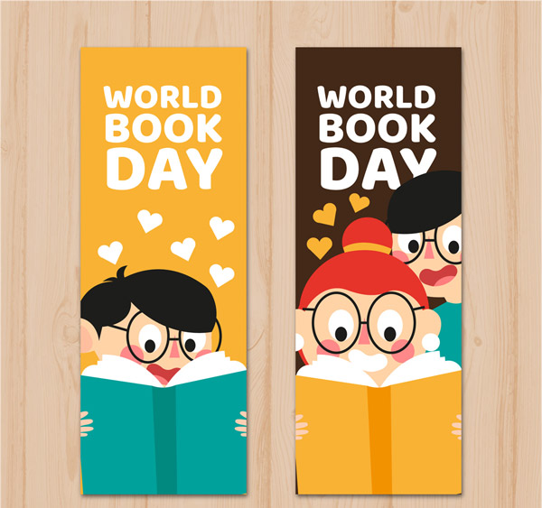 World Book Day Banner Vector AI