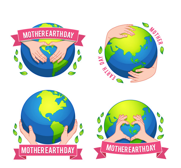 World Earth Day Label Vector AI 01