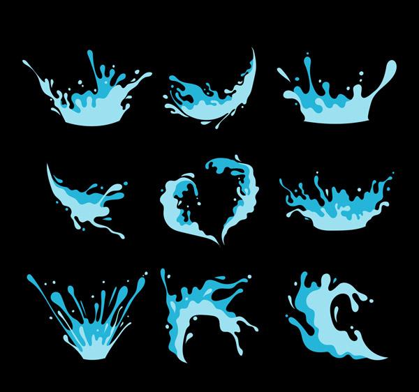 Blue Dynamic Water Vector AI
