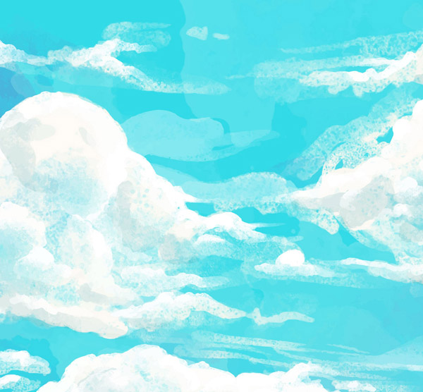 Clouds in the blue sky Vector AI