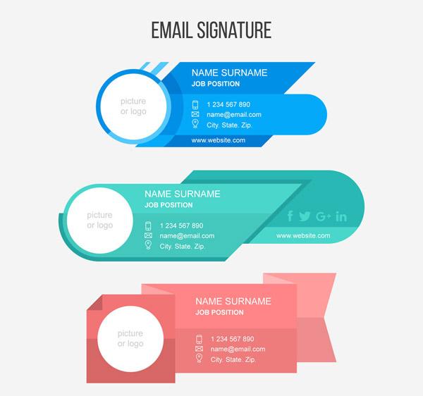 Creative Round Mailbox Signature Vector AI