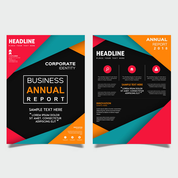 Fashion Business Annual Report Vector EPS