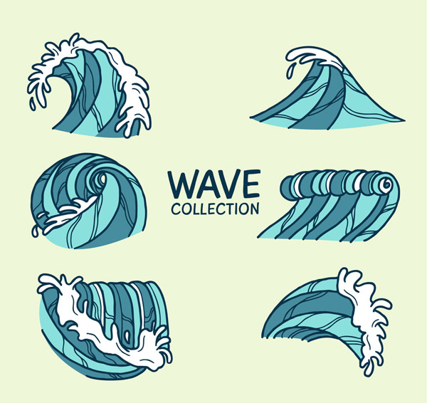 Hand-painted surf design Vector AI