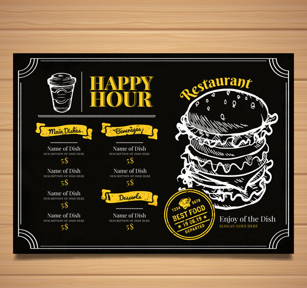 Restaurant Menu Vector 01