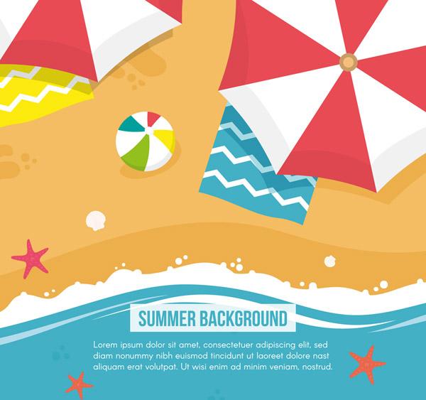 Summer beach overlooking map Vector AI